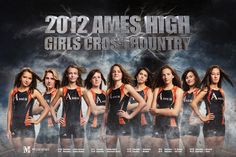 2012 poster for Ames High Girls Cross Country, created by www.mcclanahanstudio.net #cc #cyclones