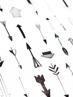 Arrows Letterpress Art Print | www.sycamorestreetpress.com #black #white