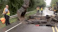 Another washed-out road is currently slowing down traffic in northwest Charlotte.