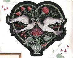 Anne Cook Love Birds Counted Cross Stitch by relativelyretro, $6.49