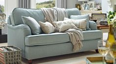 Love this baby blue 3 Seater Sofa from willowandhall.co.uk