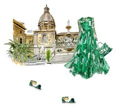 """""""Back home"""" by theitalianglam ❤ liked on Polyvore featuring Dolce&Gabbana, tropicalprints and hottropics"""