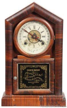 Ansonia Shelf Clock w/ Terry's Patent Calendar – LOT 125 Estimate: $400 – $600 Ansonia Shelf Clock w/ Terry's Patent Calendar  Antique Clock Auction, November 23rd 2013 - Ansonia Shelf Clock w/ Terry's Patent Calendar