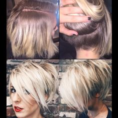 Get hair style inspiration. No matter what your hair type is, we can help you to find the easy hairstyles. Cute Hairstyles For Short Hair, Short Hair Cuts, Easy Hairstyles, Short Hair Styles, Popular Short Hairstyles, Corte Bob, Blonde Pixie, Haircut And Color, Hair Affair