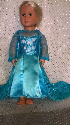 Elsa Doll Dress 18 inch doll dress American by AMDesignsBoutique, $31.00