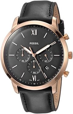 961863adf707 £111.20 Best Fossil Men s Chronograph Quartz Watch with Leather Strap FS5381