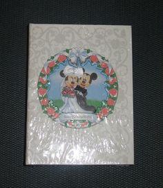 Walt Disney World Mickey Minnie Mouse Wedding Photo Album NEW