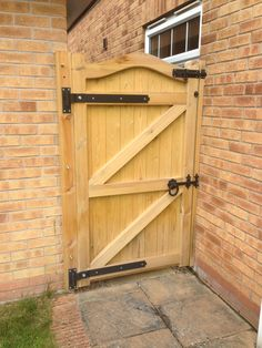 Garden gates and side gates - handcrafted in the UK to any width or height using. Garden gates and side gates - handcrafted in the UK to any width or height using time served, construction technique Wood Fence Gates, Wooden Garden Gate, Fence Gate Design, Garden Gates And Fencing, Timber Gates, Wooden Gates, Garden Doors, Backyard Gates, Driveway Gate