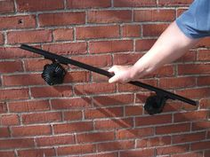 how to build an exterior wooden grab rail