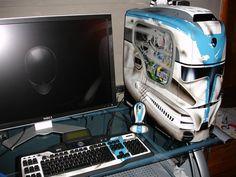 Star Wars Computer Case Mod In Computer Case Star Star Wars Desktop Computer Computer Build, Computer Setup, Computer Case, Computer Technology, Technology Gadgets, Gaming Computer, Custom Computers, Pc Gaming Setup, Gaming Pcs