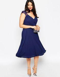 CURVE Kate Lace Midi Dress