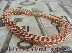 Copper Half Persian Bracelet by aislinnscollared on Etsy