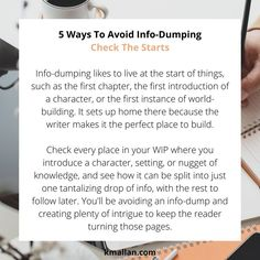 Check The Starts. Taken from the #blog post, 5 Ways To Avoid Info-Dumping. #wednesdaywisdom #writers #writingcommunity #writingtruths #writingtips #writersofinstagram #authorsofinstagram #writerscafe #writingproblems #writingadvice #infodumping Weird Town, Writing Problems, Becoming A Writer, Wednesday Wisdom, Writing Advice, Monologues, What Happens When You, Stick It Out, 5 Ways