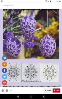 Image gallery – Page 757730706029296265 – Artofit Crochet Diagram, Crochet Chart, Crochet Motif, Crochet Designs, Easter Crochet Patterns, Doily Patterns, Yarn Crafts, Diy And Crafts, Holiday Crochet