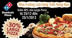 Chương trình khuyến mãi giảm giá 30% mừng khai trương cửa hàng Domino Pizza | Ghiền Ăn | ghienkhuyenmai