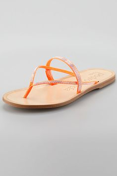 9 Embellished Flip-Flops That Are Anything But Boring  #refinery29  http://www.refinery29.com/flip-flops#slide1  Pedro Garcia Zuriel Crystal Flat Thong Sandal, $495, available at Neiman Marcus.