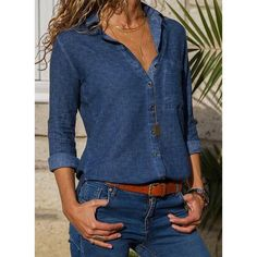 Shop Floryday for affordable Tops. Floryday offers latest ladies' Tops collections to fit every occasion. Womens Fashion For Work, Latest Fashion For Women, Look Fashion, Winter Fashion, Trendy Outfits, Fashion Outfits, Fashion Trends, Fashion Blouses, Fashion Hoodies