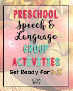 Fall Activities - Here are great ideas that a speech language pathologist can use for her speech therapy students, but they can also be done for a classroom teacher. You'll find ideas for making applesauce, pumpkin play dough, Halloween, and more. These work great for students on the autism spectrum. Click through to see how you could use these with your preschool, Kindergarten, 1st, 2nd, 3rd, 4th, or 5th grade classroom or home school students.