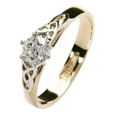 Celtic Knot Wedding Ring Set