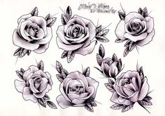 Mason Williams - Roses | Gentlemans Tattoo Flash