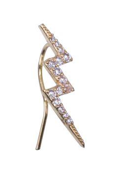 Climbing earing Gold Lightning With Zircon. Fashion Jewlery. Made of 12-14k micron goldfild.  Made of 12-14k micron goldfild. sku:18019