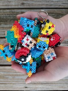 Pokemon 3-D Keychain Perler Bead Sprite Free by LittleNightLines