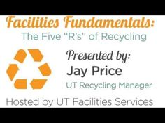 """Facilities Fundamentals: The 5 """"R's"""" of Recycling"""