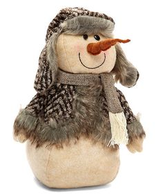 Look what I found on #zulily! 11'' Trapper Hat Snowman Holiday Plush #zulilyfinds