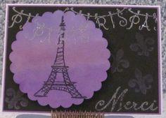 Merci Purple Parisian A2 Greeting Card Eiffel Tower Paris Thank You Card by The Royal Pumpkin on The CraftStar #thecraftstar #uniquegifts