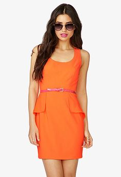 Peplum Paneled Dress w/ Faux Patent Leather Belt | FOREVER21