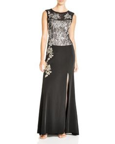 Sue Wong Sleeveless Lace Gown   Bloomingdale's