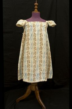 Cotton roller print child's dress, c.1815, from the Vintage Textile archives.