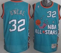 NBA 1996 All-Star  32 Shaquille O neal Green Swingman Throwback Jersey  Shaquille 7c0a9cbc2