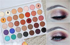 Make-up-Look mit der Jaclyn Hill x Morphe-Palette .