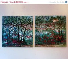 Studio sale 60  off X large original oil by jeanvadalsmith on Etsy, $135.60