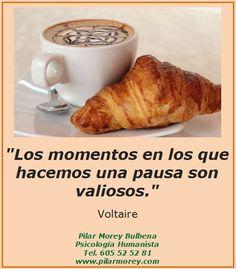 """Voltaire: """"Los momentos en los que hacemos una pausa son valiosos."""""""