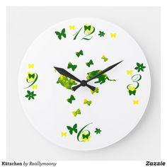 Kätzchen Große Wanduhr Clock, Wall, Home Decor, Large Clocks For Walls, Cute Designs, Artworks, Watch, Decoration Home, Room Decor