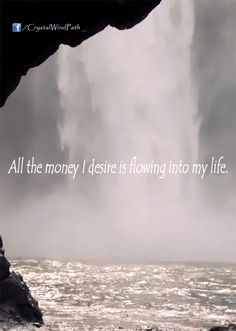 All the money I desire is flowing into my life.  #affirmation #eft #tapping #money #wealth - http://ift.tt/1oNRVdq