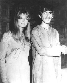 George and Pattie in India