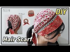 헤어스카프&두건| DIY| Making Hairscarf &Bandana| 남여가능!| Écharpe tête| Головной платок| وشاح الرأس| ผ้าพันคอ - YouTube