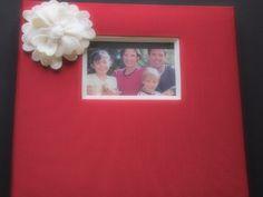 Scrapbook Album Red Ivory anemone flower or order custom colors by ArtisanFeltStudio on Etsy, $33.00