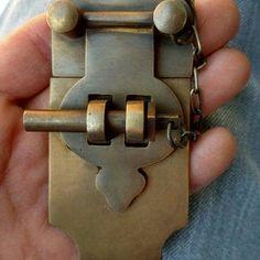 2pcs buckle jewelry box horns lock wine wooden box hasp latch hook with screw ER