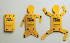 "Mais Pilates Studio's ""wake up your body"" business card."