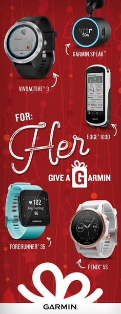 For the dashers, prancers and dancers in your life, Give a Garmin.