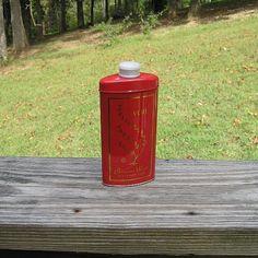 1962-68 Avon vintage poudre de Talc parfumé bois persan, 2,75 oz métal peinture…