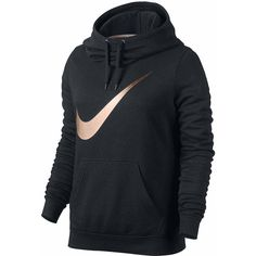 Nike Long Sleeve Cotton Blend Hoodie ($55) ❤ liked on Polyvore featuring tops, hoodies, long sleeve hoodies, nike, long sleeve hoodie, nike hoodies and hooded pullover