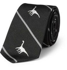 Dinosaur-Motif Silk Tie from Jil Sander