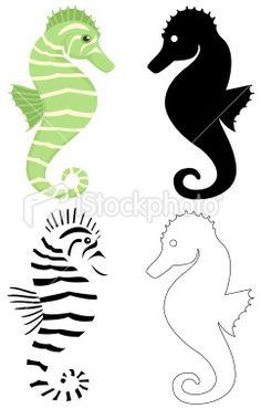 seahorse Royalty Free Stock Vector Art Illustration