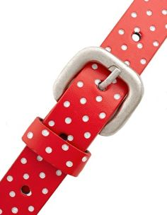 Red Polka Dot  Belt