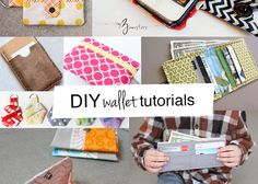 Ready to sew a wallet or coin purse? These DIY wallet tutorials will show you how to make the wallet you'll love! 16 tutorials and adding more soon! iPhone wallet TGIFF wallet in a snap kids wallet bi-fold wallet pixie hexie wallet boys wallet organizer wallet leather iPhone wallet leather card holder zippy wallet passport